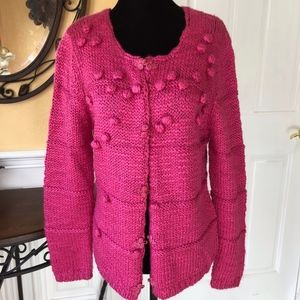 Soft and Cozy Hot Pink Sweater Cardigan